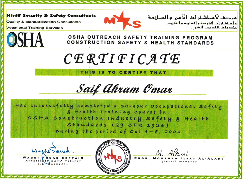 Our Qualifications & Certifications